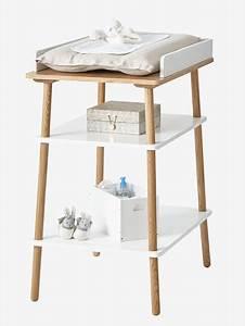 Table à Langer Bois : table langer ligne confetti blanc bois vertbaudet ~ Teatrodelosmanantiales.com Idées de Décoration
