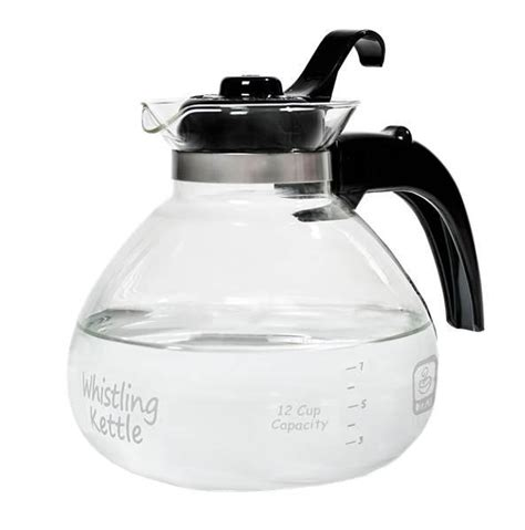 kettle glass whistling stove tea pot water boiling stovetop coffee gas electric amazon cup medelco brew brand description