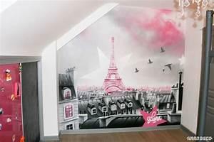 deco chambre paris fille With decoration paris pour chambre