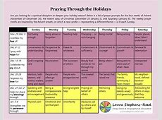 Advent prayer calendar Laura StephensReed
