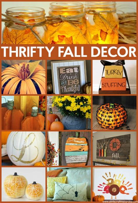 thrifty fall decor ideas   craft   day
