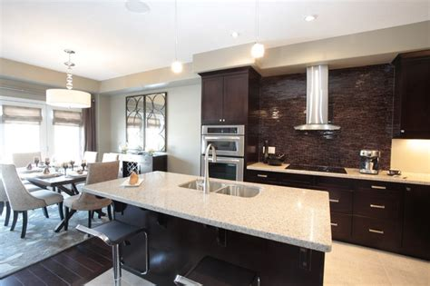 model home kitchen  dining room combination modern