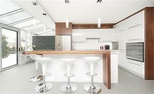 Cuisine Moderne En Bois : cuisine moderne blanche cuisine moderne bois ~ Preciouscoupons.com Idées de Décoration