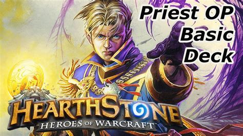hearthstone priest basic deck build and gameplay closed