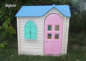 Before & After: A Little Tikes House Gets a Paint Job ...