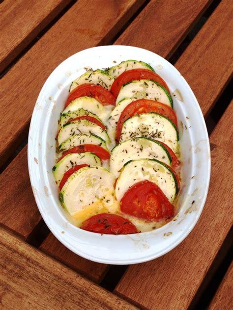 tian de courgettes et tomates à la mozzarella cuisiner