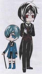 Chibi Ciel and Sebastian by SapphireMiuJewel on DeviantArt