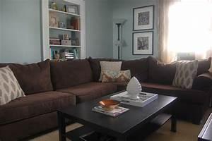 Blue Brown Grey Living Room - [peenmedia com]