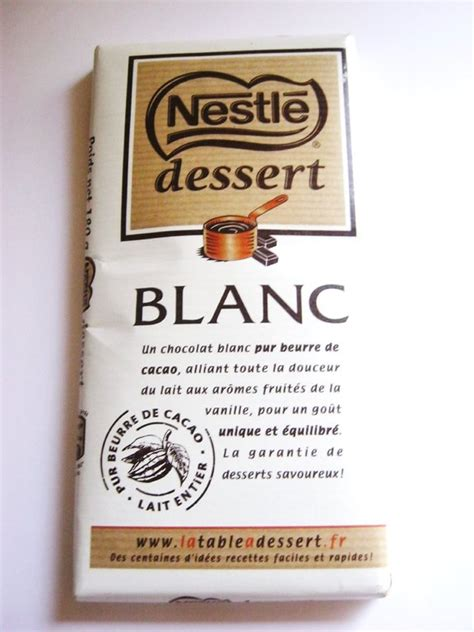 recette nestle dessert chocolat blanc chocolat blanc nestl 233