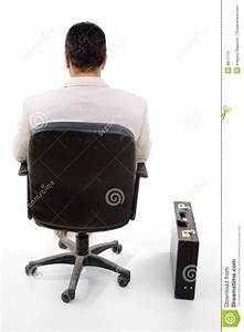 Back Pose Of Manager Sitting On Chair Stock Photos - Image ...