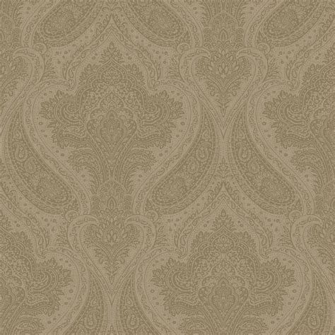 rasch roma damask wallpaper taupe silver