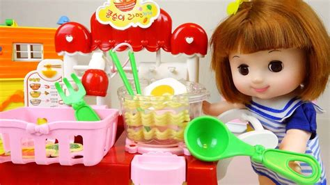 baby doll cooking noodle shop food kitchen toy youtube