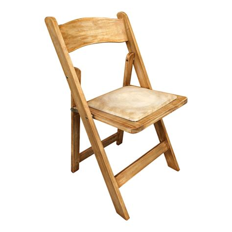 wooden rustic folding chair
