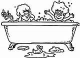 Bathtub Coloring Designlooter Hello 27kb 439px sketch template