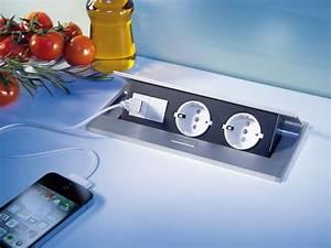 Steckdosen zum einbau und nachrusten fur die kuche online for Steckdose arbeitsplatte küche