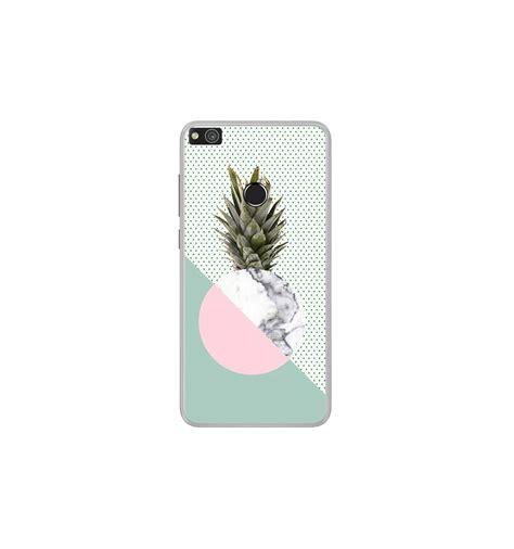 coque en silicone huawei p lite  ananas marbre