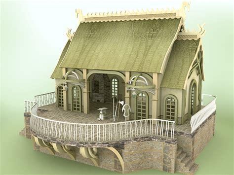 Elven Village Blacksmith 1.1 (e1v104-3ds) 3d Models Chikako