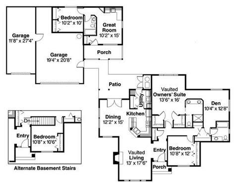 main house detached   car garage small  lawguest unit plan  hous kitchen