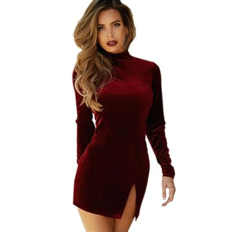 Bandage Slim Bodycon Velvet Women Long Sleeve Evening