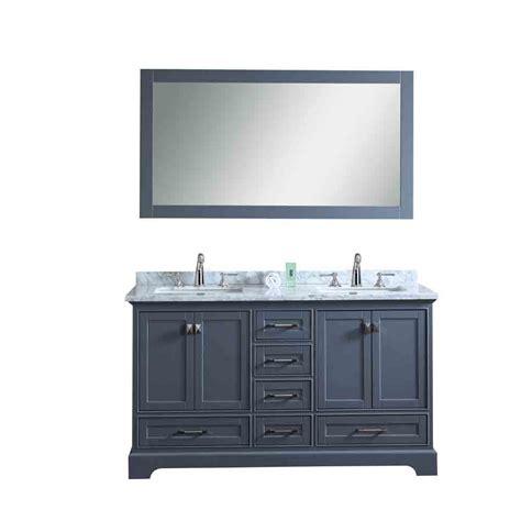 double sink mirrored bathroom vanity stufurhome newport grey 60 quot double sink bathroom vanity