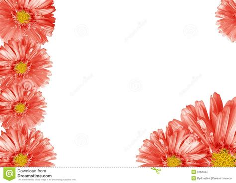 abstract flower border stock images image