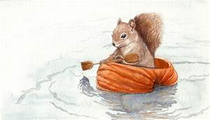 19 Best Watercolor Squirrels Images On Pinterest