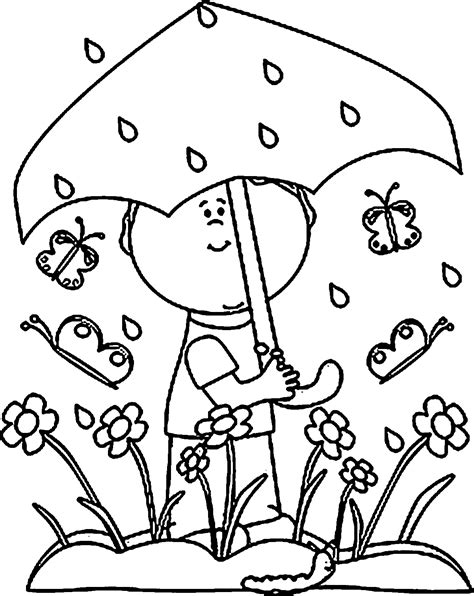 rain coloring page coloring home