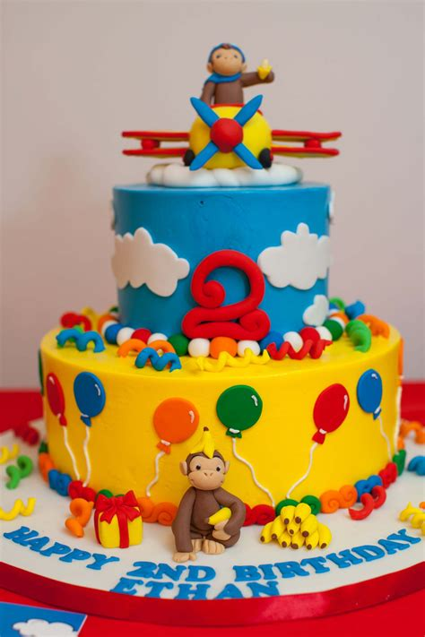 curious george birthday cake boy birthday bashes