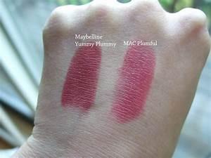 MAC Plumful vs. Maybelline Yummy Plummy (dupe) | Hair ...
