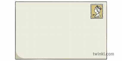 Envelope Stamp Letter Blank Ks1 Twinkl Illustration
