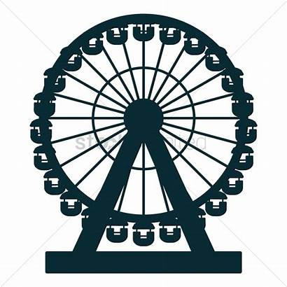 London Eye Clipart Wheel Millennium Vector Graphic