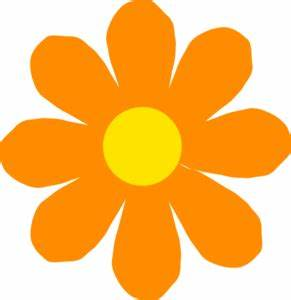Bright Orange Flower Clip Art at Clker vector clip