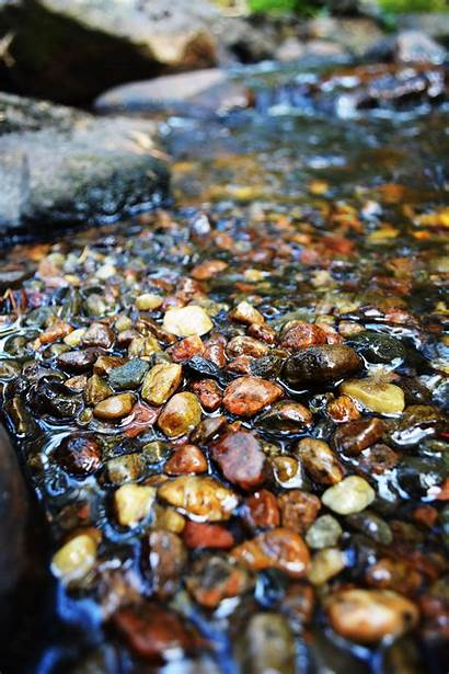 Water Pebbles Stones Brown Summer Px Wallpapers