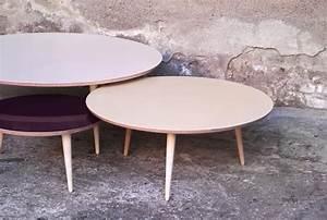Table Basse Ronde Gigogne : table basse amovible ronde ~ Teatrodelosmanantiales.com Idées de Décoration