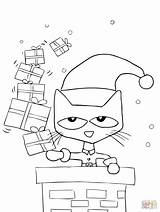 Pete Cat Coloring Christmas Preschool Pages Sheets Supercoloring sketch template