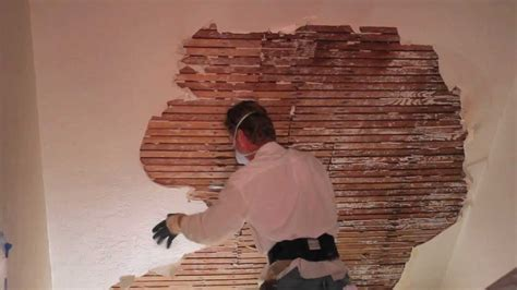 remove  repair interior plaster  walls  ceilings