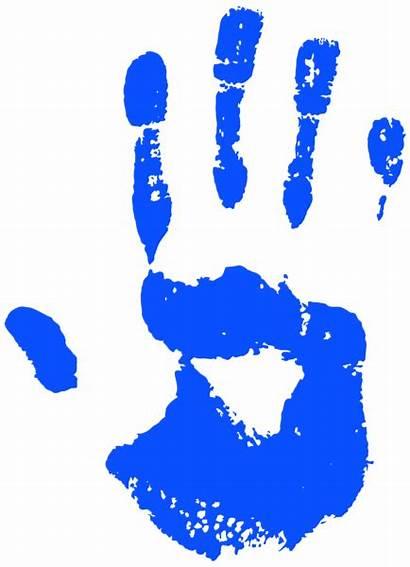 Handprint Clip Clipart Transparent Hands Manos Biru