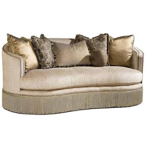 rachlin sofa for sale chagne curved nail head trim sofa with fringe skirt