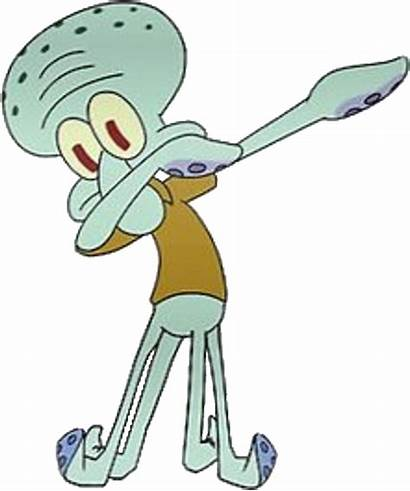 Squidward Spongebob Dab Transparent Dabbing Squarepants Emoji
