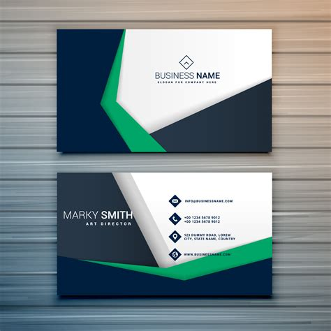 company business card design  abstract geometric