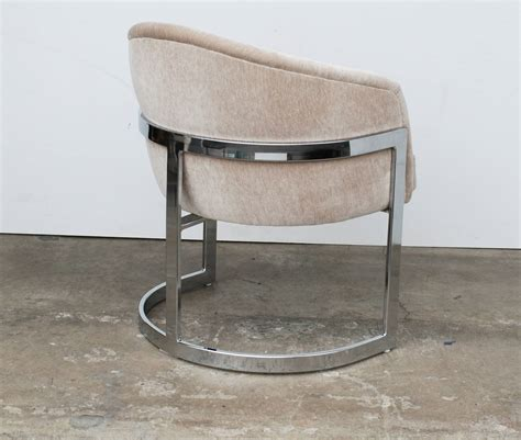 set of four milo baughman curved t back dining chairs image 4