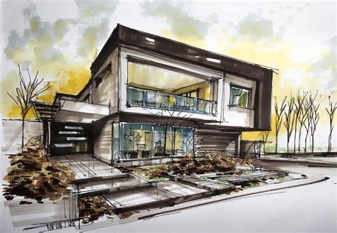 home design drawing modern house sketch wizki house sketch and