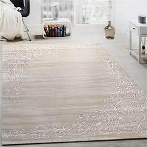 Designer teppich mit floral muster und glitzergarn in for Balkon teppich mit weiß schwarze tapete