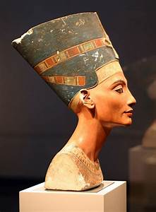 Queen Nefertiti, a 3,300-year-old painted limestone bust ...