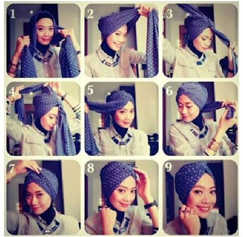tutorial hijab turban bisa dikreasikan   kantor