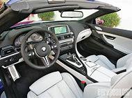 BMW M6 Convertible Interior