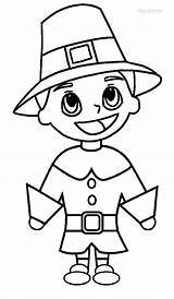 Pilgrim Coloring Pages Printable Hat Pilgrims Thanksgiving Template Cool2bkids Indians Indian Print Children sketch template