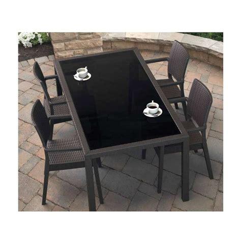 table et chaise de jardin en resine tressee emejing meuble de jardin tresse pictures seiunkel us