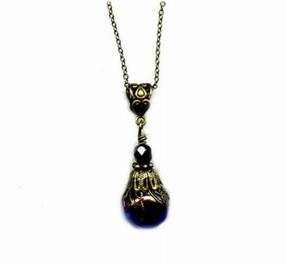 Marble Victorian Glass Pendant Necklace Pixie Purple