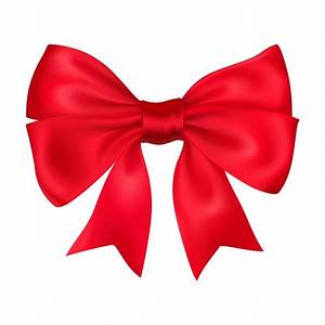 Decorative red bow Vector | Free Download